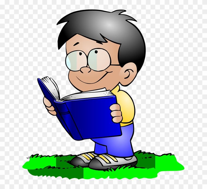 School Boy Svg Vector File, Vector Clip Art Svg File - Reading Icon