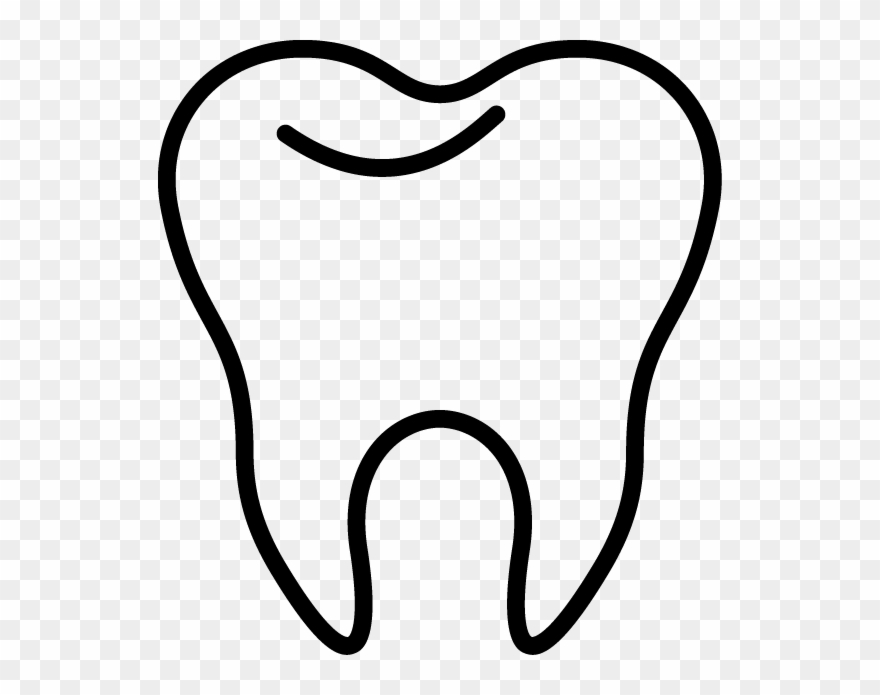 Tooth white. Clipart collection of black