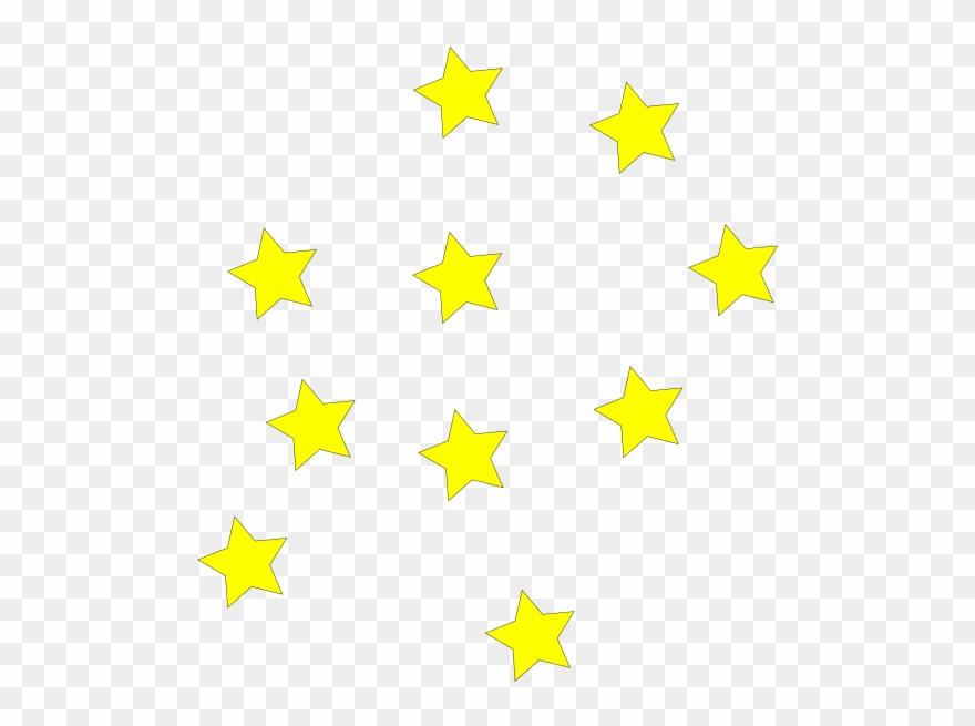 Yellow Star Border Clip Art Yellow Stars Hi - Stars Clipart - Png Download