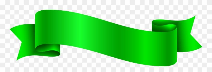 Ribbon green. Banner png pink clipart