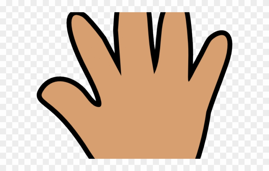 Middle finger large. Fingers clipart hand five