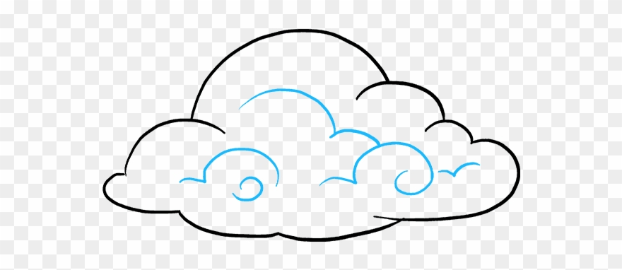 Cloud drawing. How to draw clouds