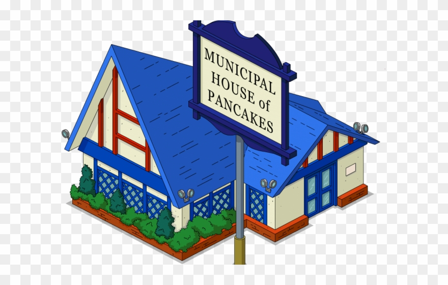 Mansion Clipart Municipality - The Simpsons - Png Download
