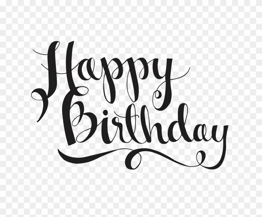 Happy birthday calligraphy. Svg freeuse stock congratulations