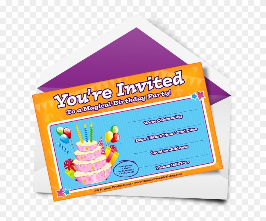Horizontal Birthday Party Invitation