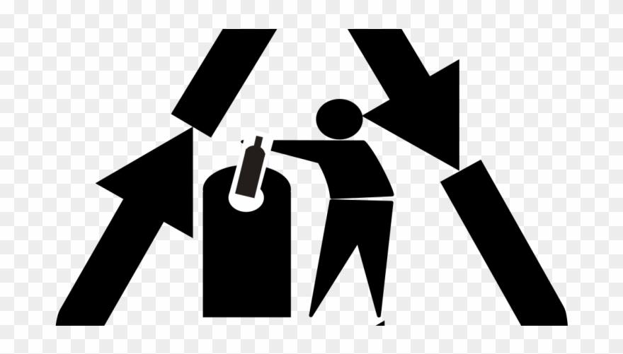 Lets Talk Trash Simbolo De Reciclaje De Vidrio Clipart 813503