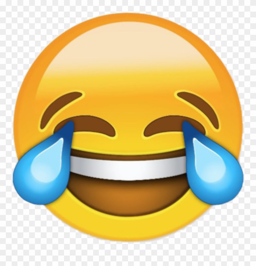 Crying With Laughter Emoji Png - Laughing Emoji Big Clipart