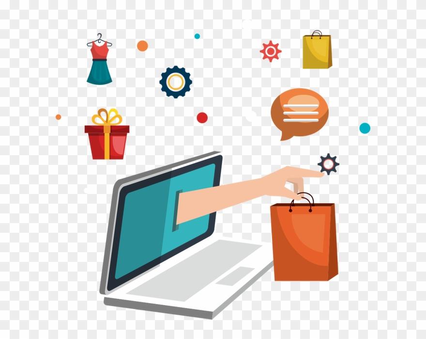 Iphone Clipart Facebook Online Shopping Flat Design Png