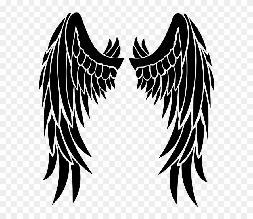 Black Wings Clipart Transparent Png Stickpng Clip Art - Angel Wings Svg