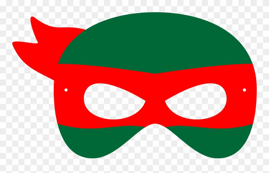 image about Printable Ninja Turtle Mask Template called Black And White Library Mask Svg Tmnt - Printable Teenage