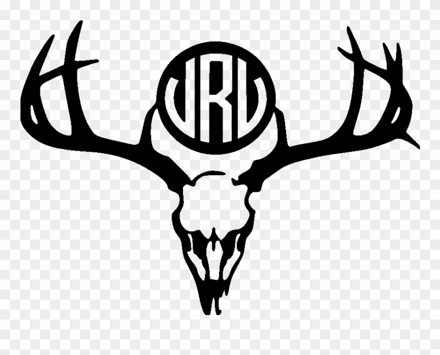 Deer Skull Monogram File Size Deer Skull Svg Free Clipart 817930 Pinclipart