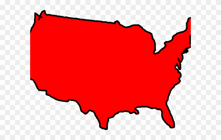 Maps Clipart Usa - Red Map Of Usa - Png Download (#821796 ...