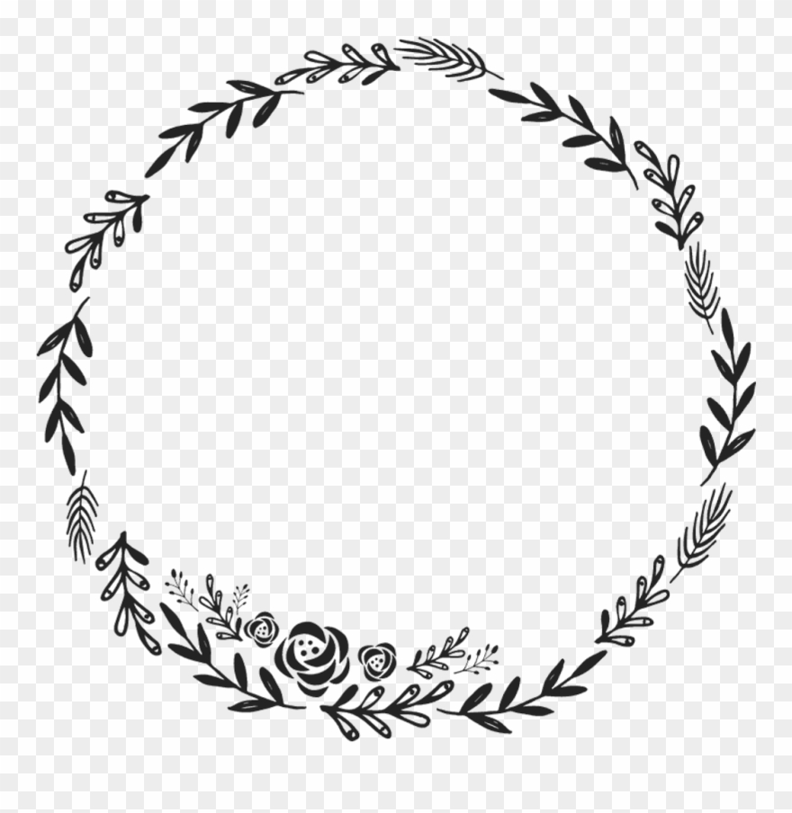 Border Frame Wreath Circle Round Fleaves Floralwreath - Floral Wreath Clipart Transparent Background - Png Download