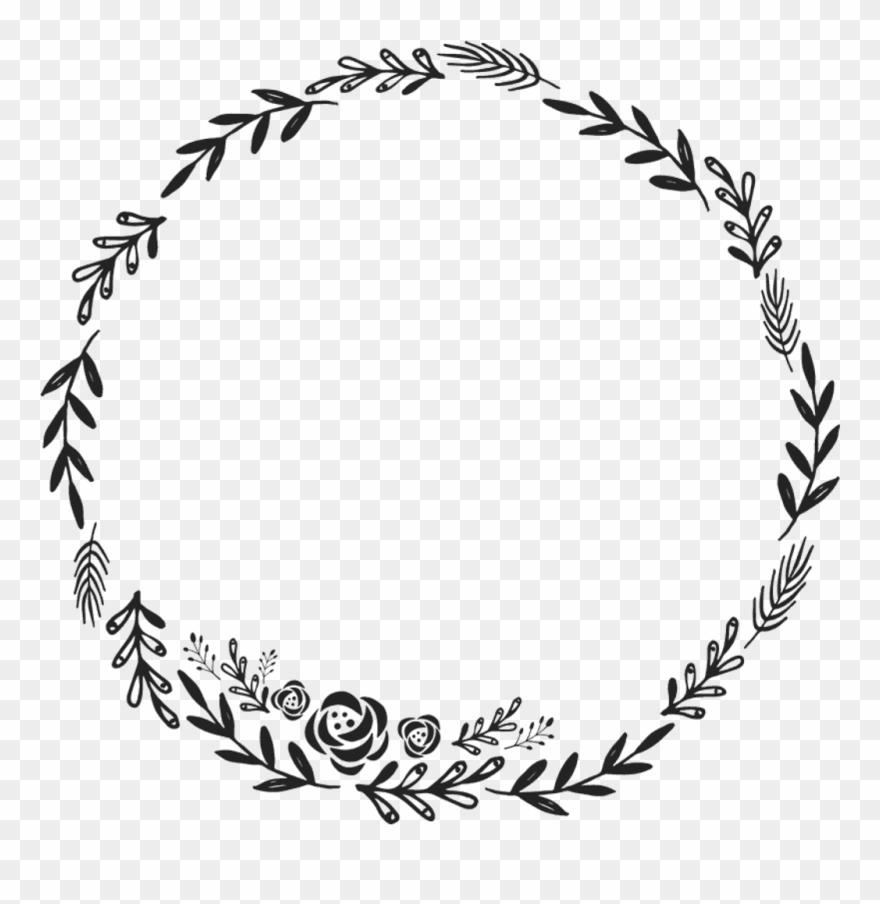 Border Frame Wreath Circle Round Fleaves Floralwreath Floral
