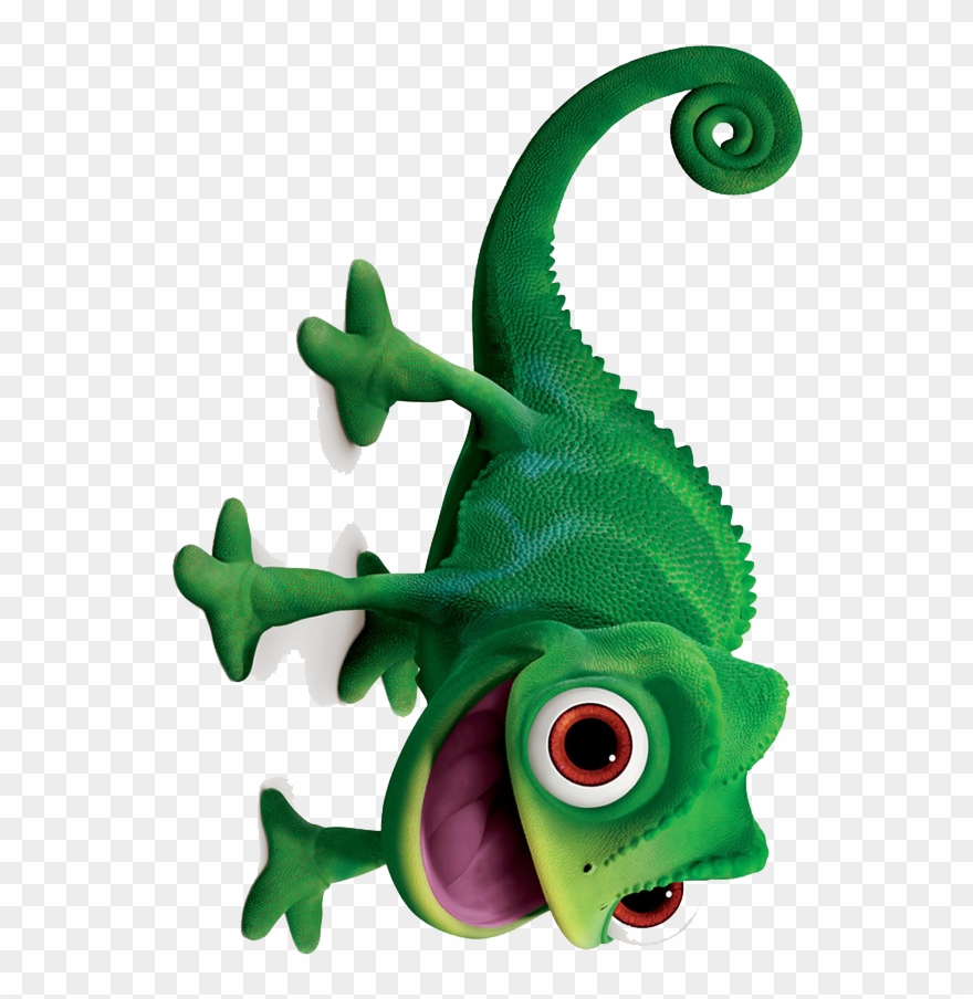 Clip Art Black And White Library Rapunzel Pascal For Pascal Tangled No Background Png Download 840336 Pinclipart