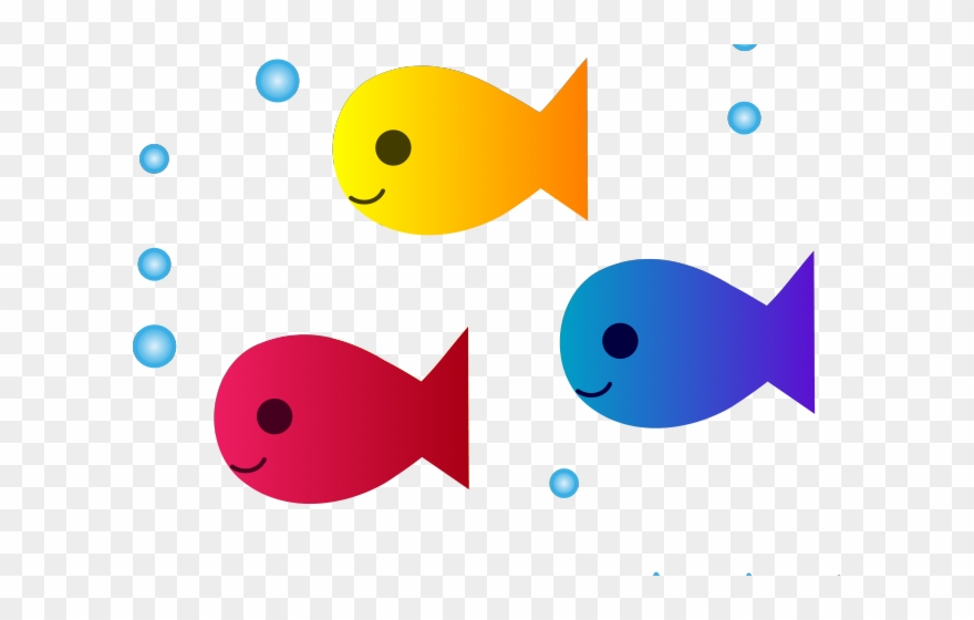 Cute Fish Clipart Cartoon School Of Fish Png Download 844213 Pinclipart