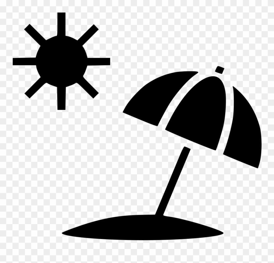 Clip Art Freeuse Stock Sun Summer Umbrella Beach Svg Icon Png Transpa