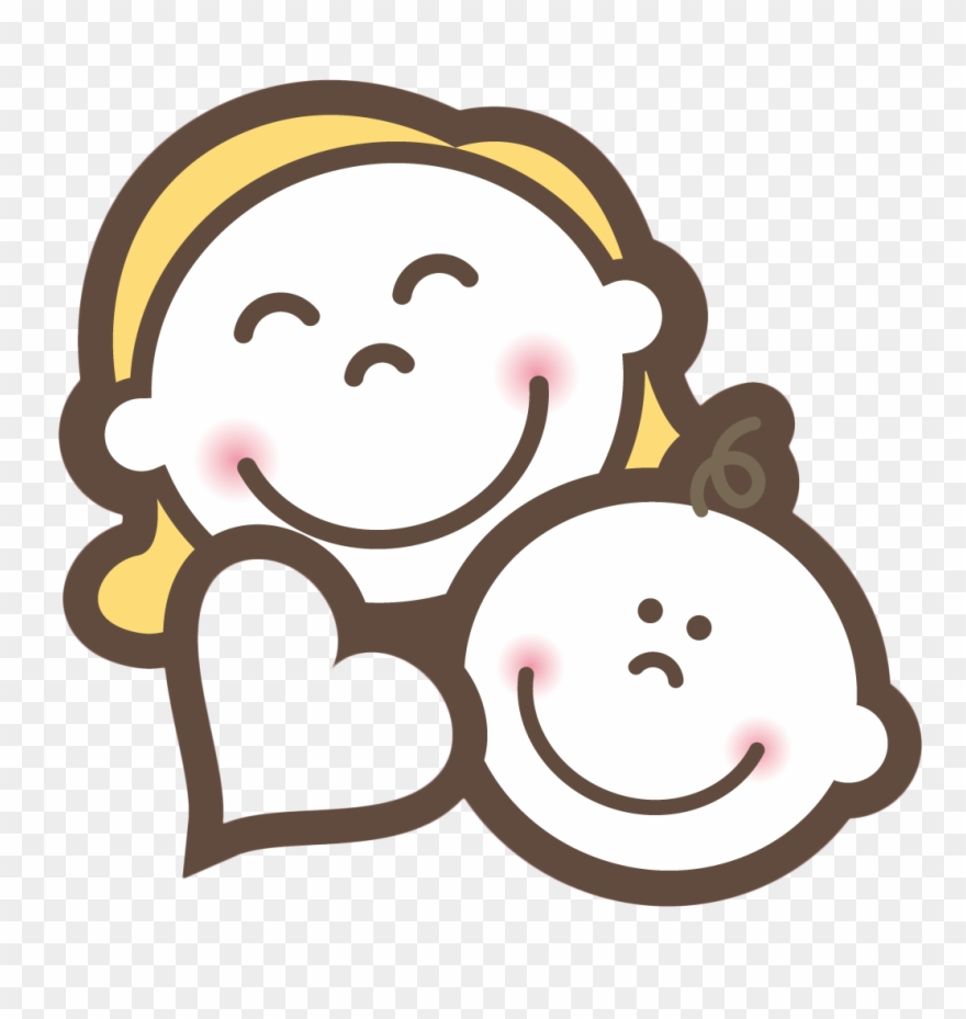Baby And Mom Smile Transprent Png Free Mom And Baby Cartoon Clipart 851354 Pinclipart