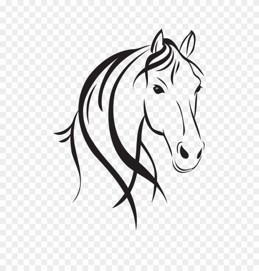 Horse Head Style - Horse Head Outline Clipart (#853031) - PinClipart