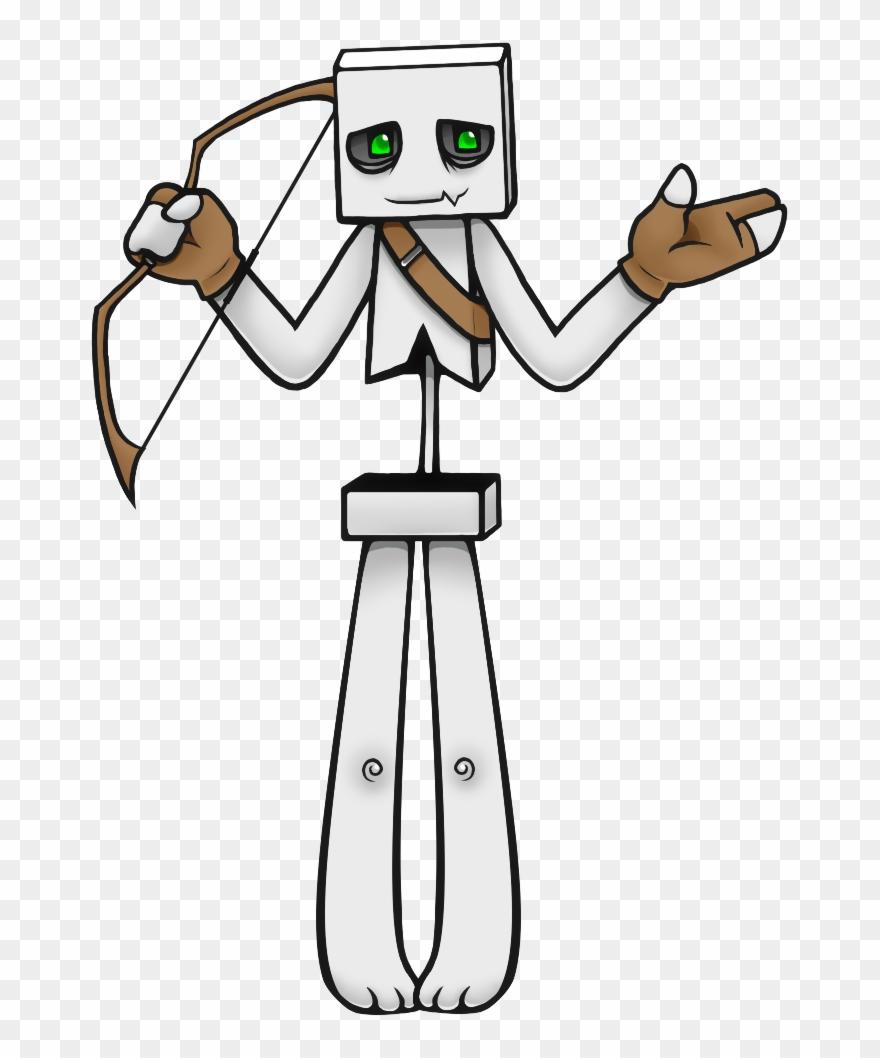 как нарисовать скелета из майнкрафт #9