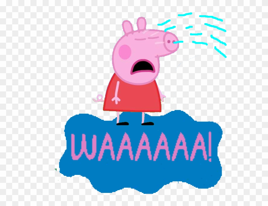 Peppa Pig Sad Peppa Pig Transparent Clipart 854092