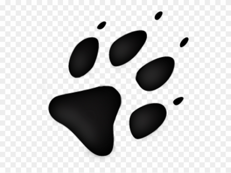 Wolf Tracks Clip Art Logo With Animal Footprint Png Download