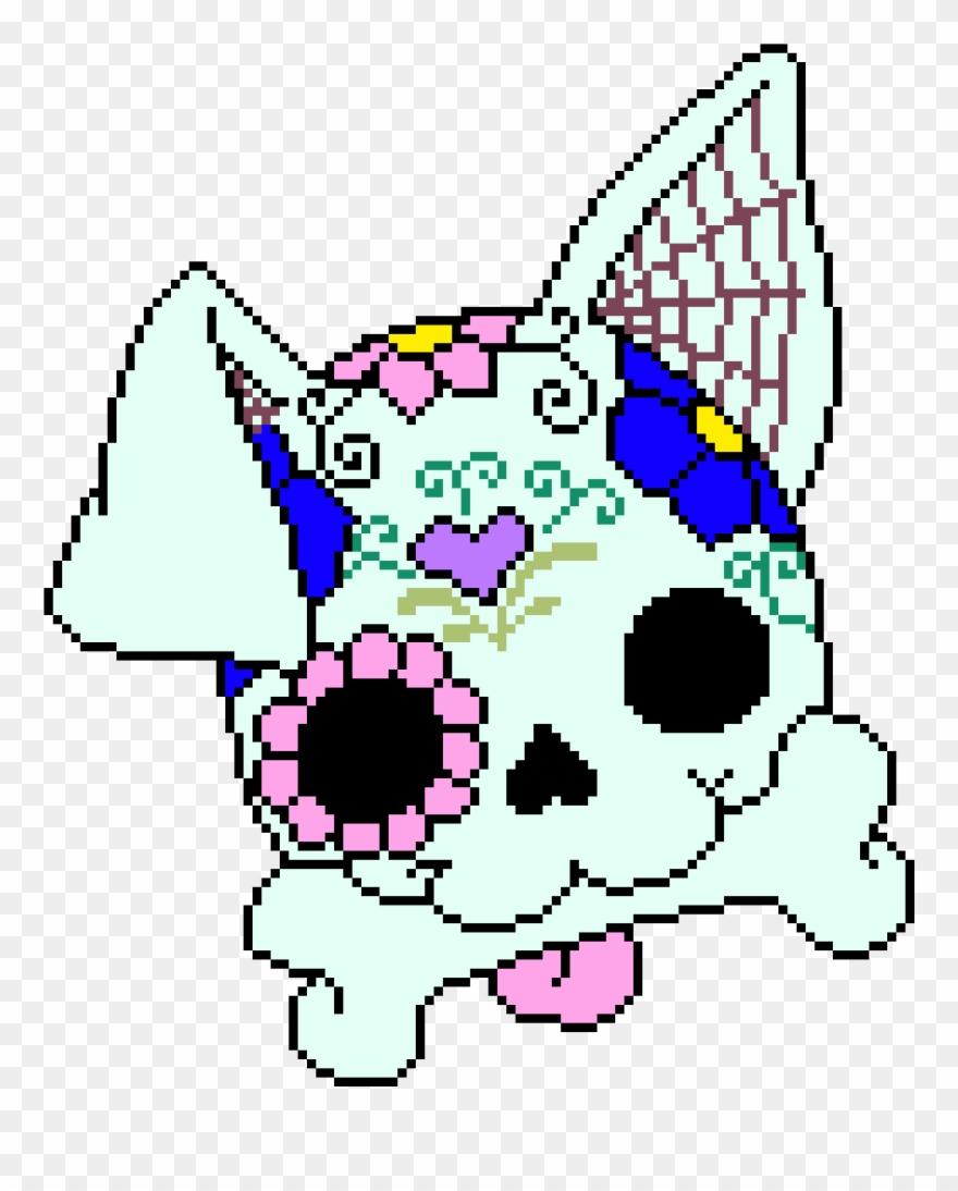 Sugar Skull Dog Sugar Skull Pixel Art Clipart 856424
