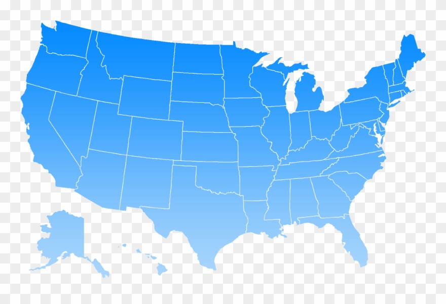 Us Map Clipart Png Blue Us Map Png Clipart (#859059)   PinClipart