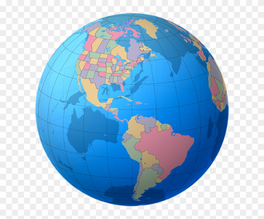 Globe Clipart Colourful - World Map Hd 3d - Png Download ...