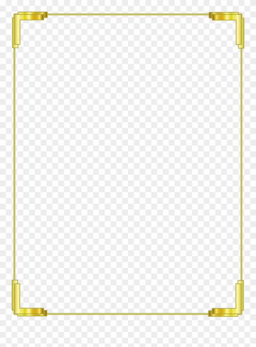 Art Deco Borders Clipart 1 Source Transparent Background Gold Border Png Download 861086 Pinclipart