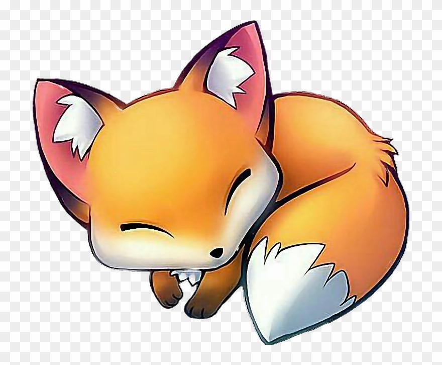 Babyfox Fox Cutefox Sweet Cute Sleep Babyanimal Renard Manga Clipart 862475 Pinclipart