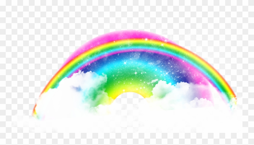 Colorful Frames Rainbows Free Images Rainbow Png Rainbow On A