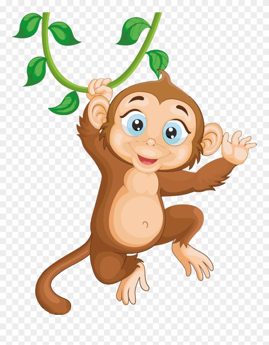 Download Monkey Clipart Png Download Cartoon - Monkey Hang ...