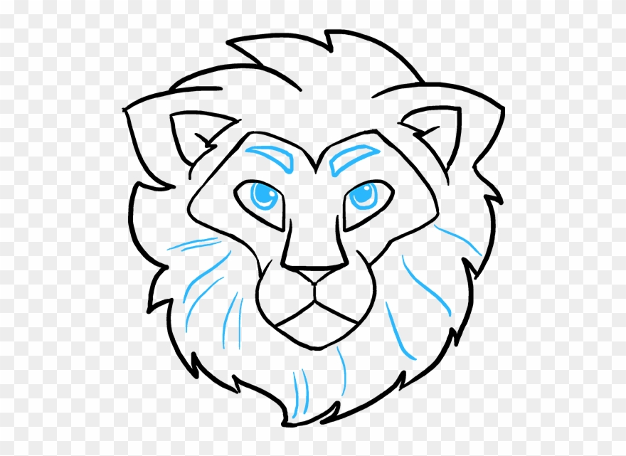 How To Draw Lion Head Lion Head Drawing Easy Clipart 874301 Pinclipart Lion drawing sketch tiger illustration face white head art outline. lion head drawing easy clipart