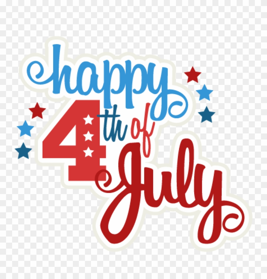 4th of july happy. Th clipart svg scrapbook