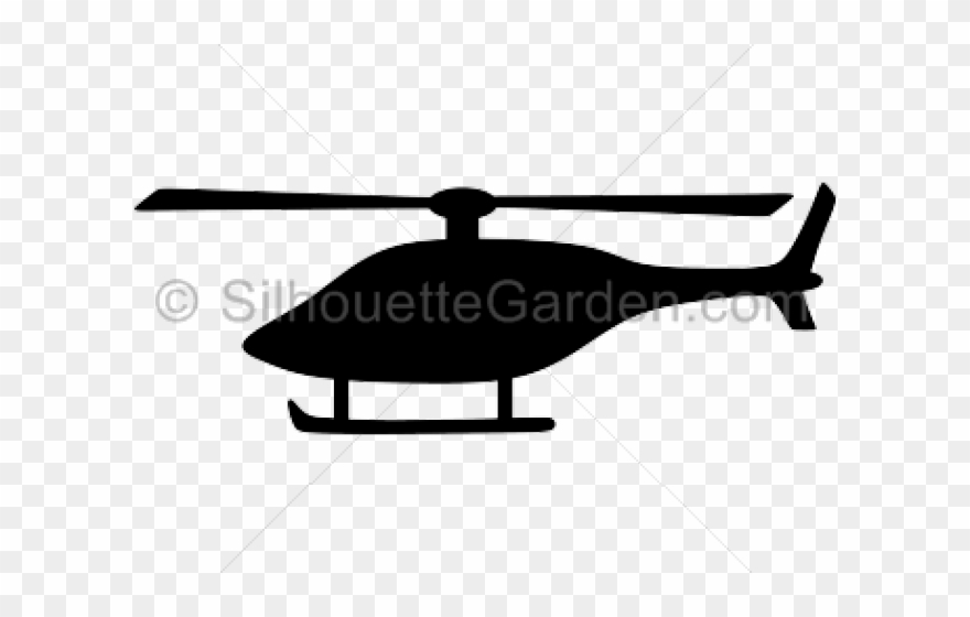 Helicopter Clipart Svg Simple Helicopter Silhouette Png