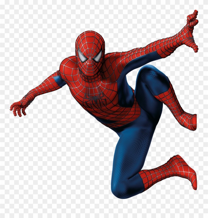 Spiderman standing. Clipart png transparent