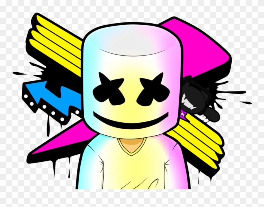 Fotos Do Marshmallow Dj - Marshmello Dj Clipart