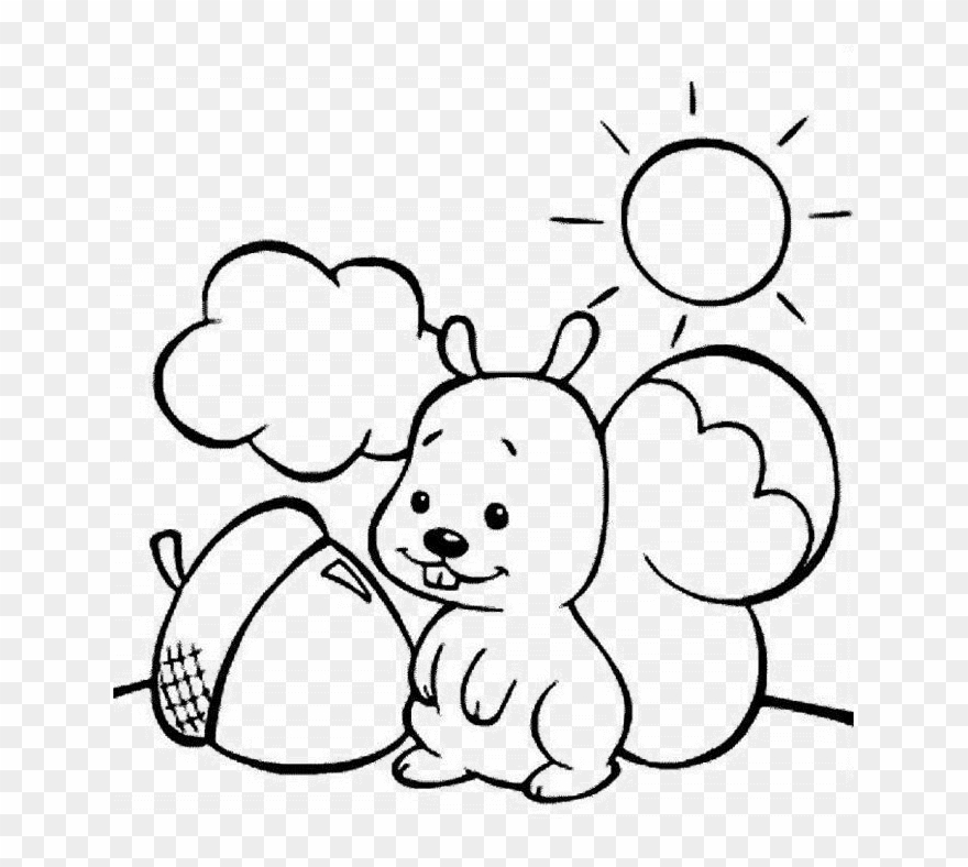Fall Season - Easy Fall Coloring Pages For Kids Clipart ...