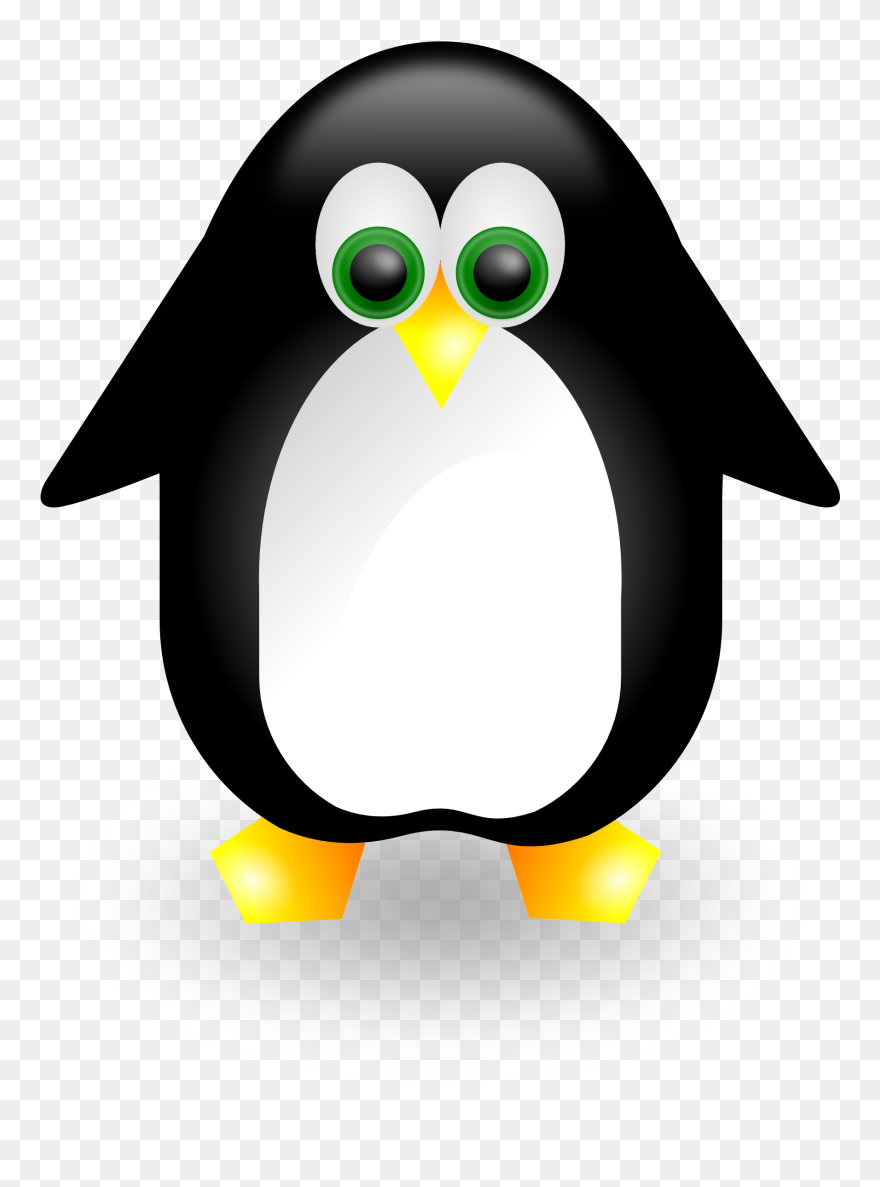 Penguin 2 Linux Scallywag March Clipartist - Svg Penguin - Png
