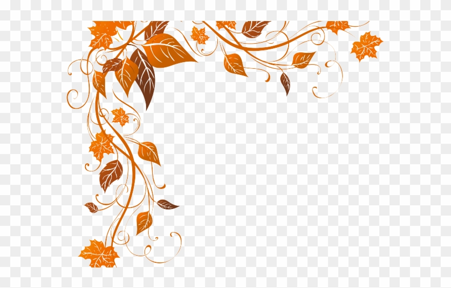 Fall leaves corner. Decorations clipart november clip