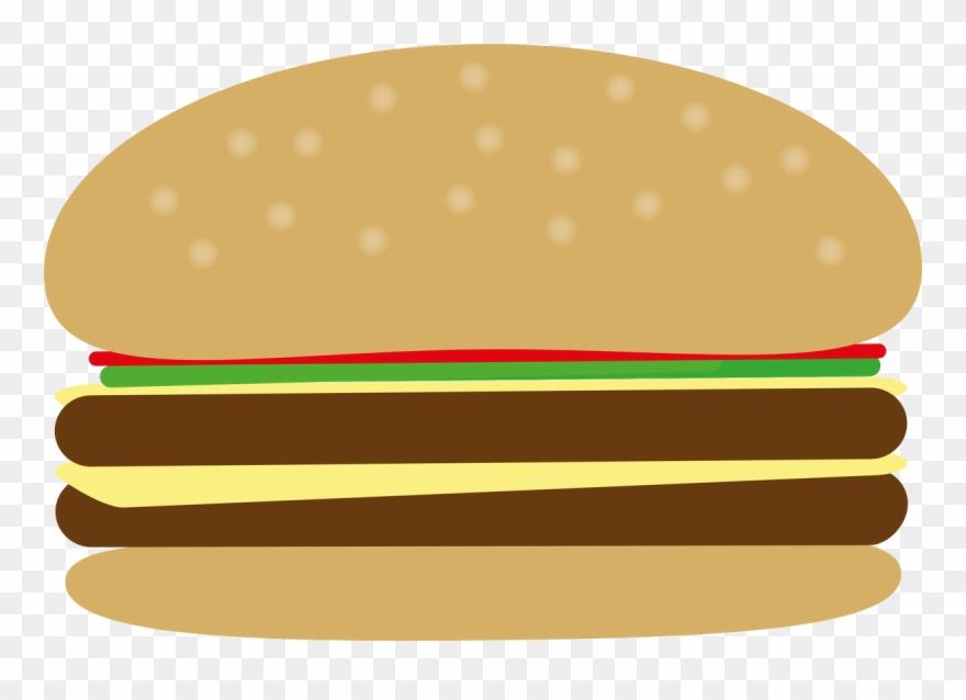 Junk Food Clipart Burger - Burger Bbq Clipart Png Transparent Png