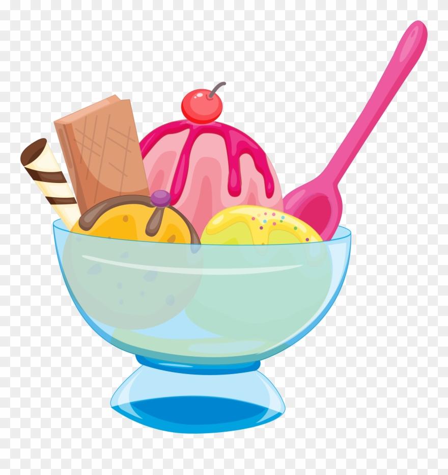 Ice cream colorful. Chocolate sundae transprent picture