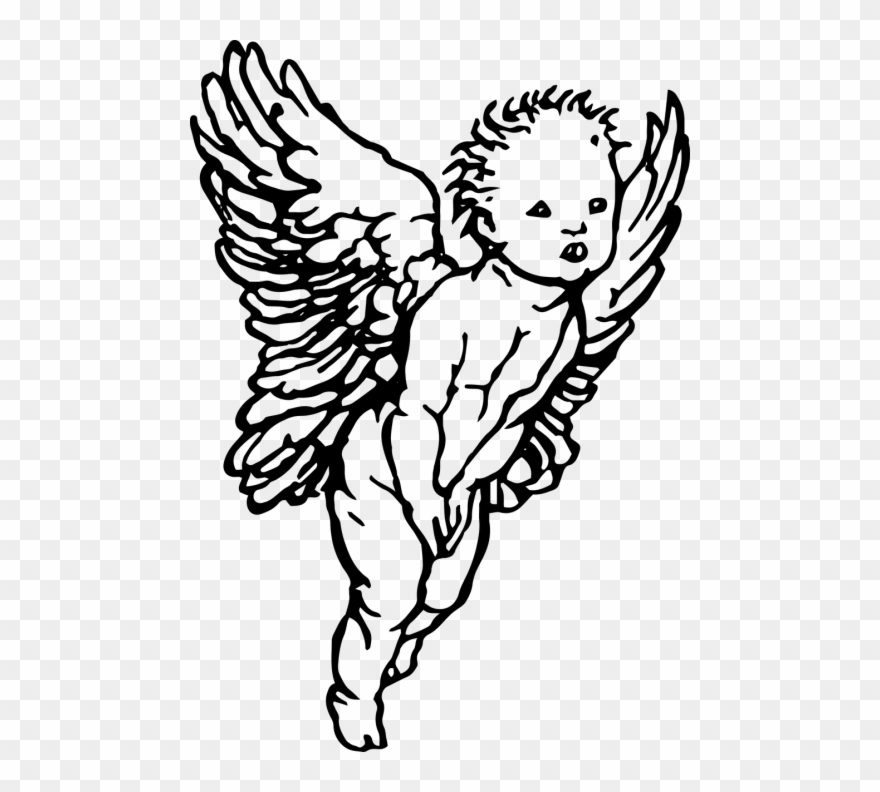 Simple Drawing Cherub Angel Clipart 890724