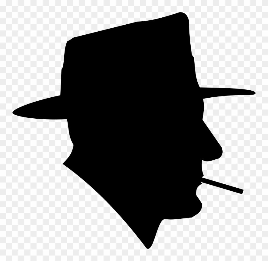 Smoke silhouette. Free cigarette smoking man