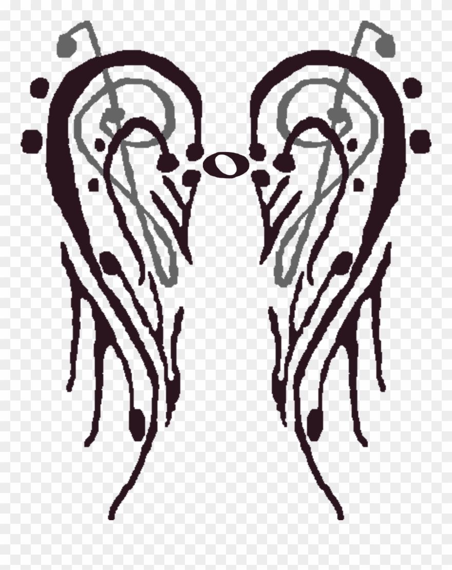 Png Royalty Free Library Collar Drawing Wing - Wings Made Of