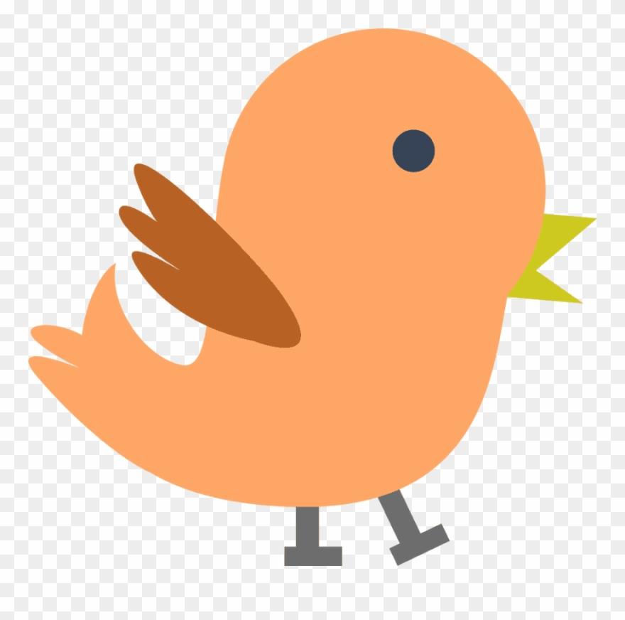 Bird orange. Clipart baby clip art