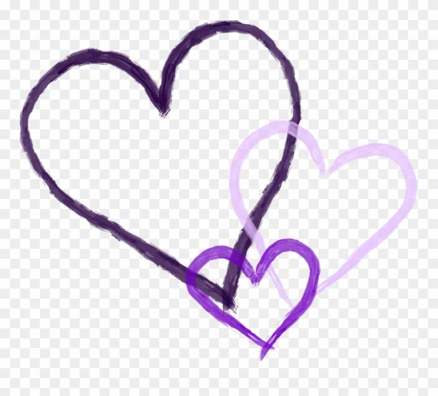 Kiss purple. Kissing clipart heart transparent