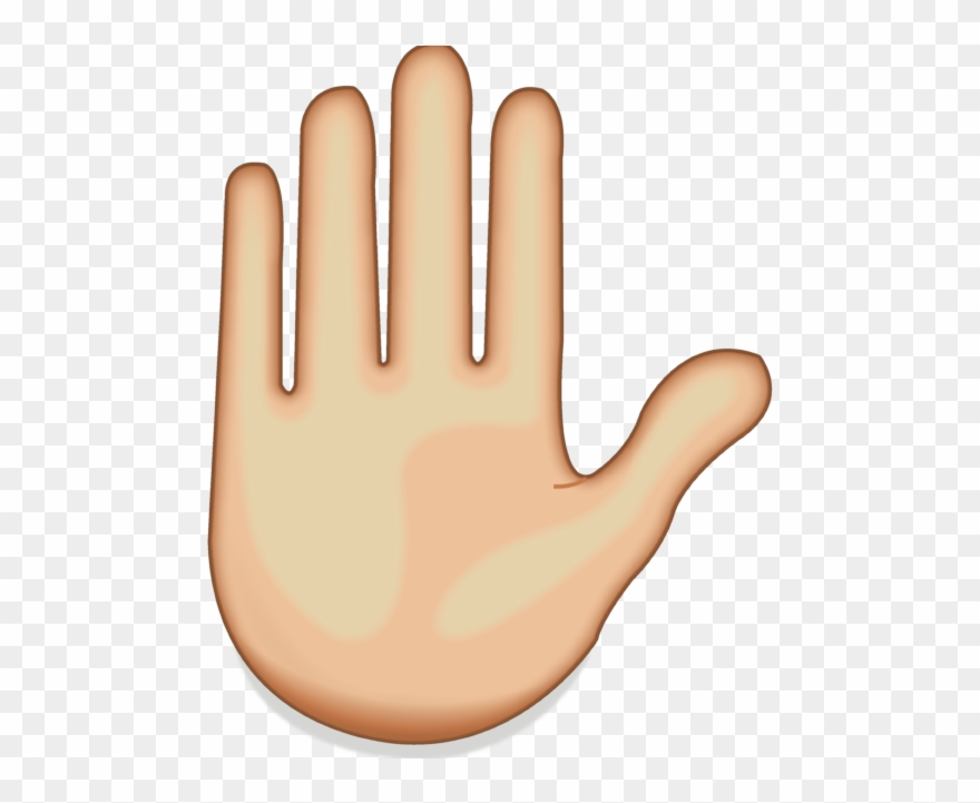 Hand transparent. Emoji clipart meaning raised