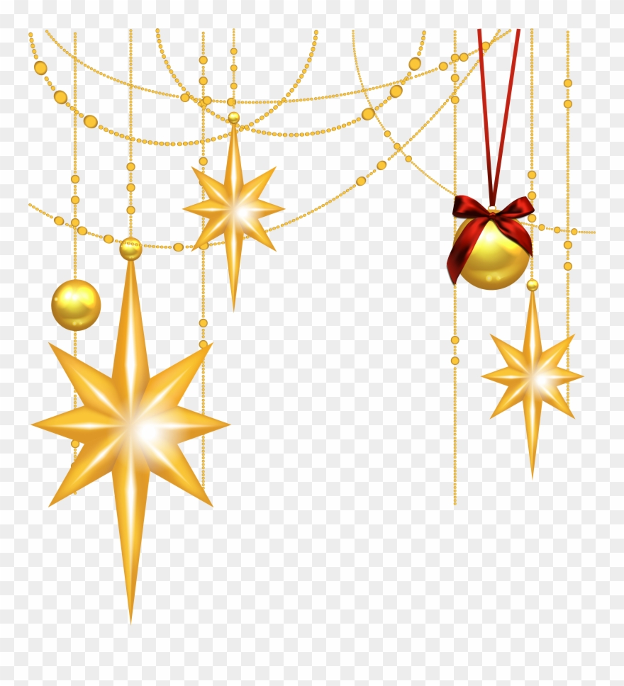 Free Christmas Star Clipart - Christmas Clip Art Stars - Png Download